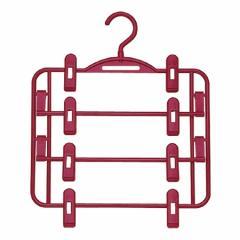 スカートハンガー スカート掛け 4段 ( 洋服ハンガー プラスチック製 洋服掛け 衣服ハンガー 衣装ハンガー 衣類 収納 )