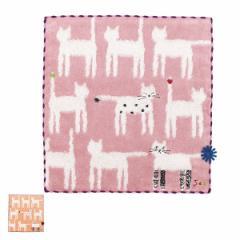 ハンカチタオル sokcs cat タオルハンカチ ( ハンカチ タオル 猫 ねこ 白猫 猫柄 花 くつ下猫 綿 綿100% 23×23cm 刺繍 ハンドタオル