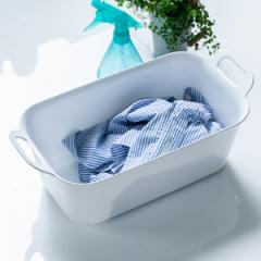 洗濯用たらい 7L Arao! 洗い桶 タライ ( たらい バケツ バスケット 四角 持ち手付き つけ置き 予洗い 洗濯物 服 靴 シューズ スニーカー