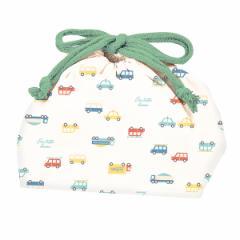 ランチバッグ ランチ巾着 車 子供 お弁当袋 ( 巾着 幼稚園 保育園 子供用 巾着袋 給食袋 袋 子供用お弁当袋 弁当巾着 子ども用 子供 子