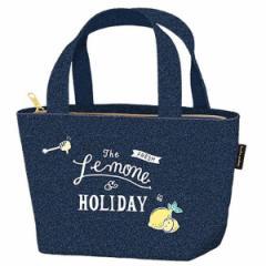 【クーポン配布中】ランチバッグ トートバッグ 保冷バッグ レモン&ホリデー ファスナー付