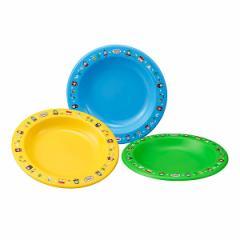 皿 アウトドア プラスチック 小皿 3枚入 きかんしゃトーマス 14cm ( 子供 食器 トーマス レンジ対応 食洗機対応 お皿 キッズ レジャー