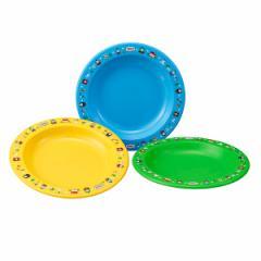 皿 アウトドア プラスチック 中皿 3枚入 きかんしゃトーマス 18cm ( 子供 食器 トーマス レンジ対応 食洗機対応 お皿 キッズ レジャー