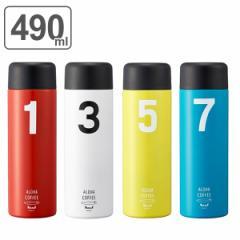 水筒 ステンレス 直飲み HALEIWA ナンバー 490ml マグボトル ( 保温 保冷 ダイレクトボトル ステンレスボトル ハレイワ ナンバー柄 シン