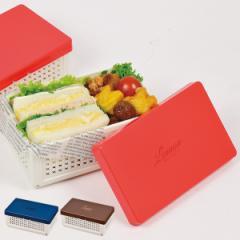 お弁当箱 レノン 折りたたみランチボックス サンドイッチケース ( 弁当箱 仕切り付き サンドイッチ コンパクト シンプル 折りたたみ 弁