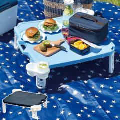 折りたたみ テーブル アウトドア ハンディーテーブル 63×63cm ピクジェネ ( 折りたたみテーブル 簡易テーブル 机 コンパクト ローテー