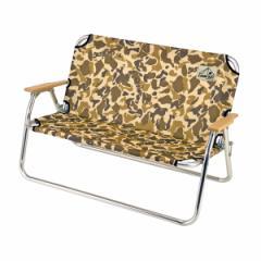 折りたたみ椅子 アルミ背付ベンチ キャンプアウト カモフラージュ 2人掛け ( 送料無料 ベンチ 折りたたみ 折りたたみチェア 迷彩 コ