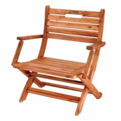 折りたたみチェア 1人掛け ミッドスタイルチェア ディレクターチェア 木製 肘付き ( 送料無料 ガーデンチェア 折りたたみ チェア
