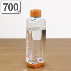 水筒 直飲み プラスチック ブロックスタイル アクアボトル 700ml ウッド調 ( 目盛り付き プラスチックボトル ボトル クリアボトル ダイ