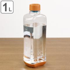 水筒 直飲み プラスチック ブロックスタイル アクアボトル 1L ウッド調 ( 目盛り付き プラスチックボトル ボトル クリアボトル ダイレク