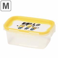 保存容器 440ml Mサイズ ミニオン 長方形 レクタングル ( ミニオンズ フードコンテナ フードストッカー 食洗機対応 冷凍庫対応 電子レン