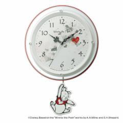 振り子時計 ディズニー くまのプーさん振り子時計 8MX407MC03 ( 掛け時計 壁掛け時計 アナログ 電波時計 壁掛け インテリア 雑貨 ウォー
