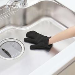 たわし 和歌山生まれの手袋たわし 手袋 タワシ シンク 排水溝 風呂掃除 靴 上履き お墓 掃除 日本製 ( 清掃 風呂 キッチン 台所 車 自転