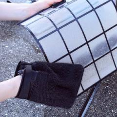 タワシ 網戸洗いタワシ ミトンタイプ ( 網戸掃除 窓掃除 エアコン フィルター 網目 細かい 汚れ たわし 束子 スポンジ 水のみ 手袋 手