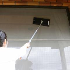 網戸掃除 タワシ 網戸洗いタワシ 高いところ ミトンタイプ たわし 網戸 エアコンフィルター 掃除 ( そうじ 清掃 掃除用品 高所 そうじ用