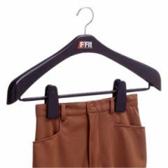 ジャケットハンガー ビッグクリップ 幅47cm F−Fit ( 衣類 収納 衣類収納 コートハンガー ジャケットハンガー ジャケット用ハンガー 黒