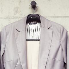 ハンガー リバース ジャケットクリップ42 ブラック ( ジャケットハンガー スーツハンガー 衣類ハンガー スリム ジャケット スーツ 衣類