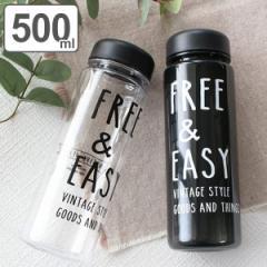 水筒 プラスチック NATIVE HEART クリアボトル FREE&EASY 500ml ( プラボトル マイボトル プラスチック製 ボトル 軽い 女子 大人 ダイレ