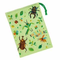 コップ袋 インセクトファイター 歯ブラシホルダー付 子供 ( 給食袋 幼稚園 保育園 巾着 昆虫 虫 子供用コップ袋 子ども用 お弁当グッズ