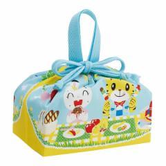 弁当袋 ランチ巾着 しまじろう ピクニック 子供 ( 巾着 幼稚園 保育園 子供用 弁当巾着 お弁当袋 ランチバッグ 巾着袋 キッズ ランチグ