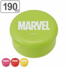 お弁当箱 1段 ダイカットシール容器 MARVEL 190ml ( 弁当箱 シール容器 蓋付き容器 小物入れ 果物入れ キャラクター レンジ対応 丸型 ラ