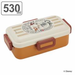 お弁当箱 1段 ふわっと弁当箱 4点ロック チップとデール クッキング 530ml ランチボックス ( チップ&デール 弁当箱 レンジ対応 食洗機対