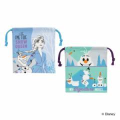巾着袋 ランチ巾着 2枚入り アナと雪の女王 子供 キャラクター ( アナ雪 巾着 幼稚園 保育園 給食袋 ディズニー プリンセス ランチバッ