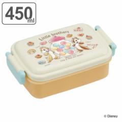 お弁当箱 1段 抗菌 ふわっとタイトランチボックス チップ&デール スイーツ 450ml 子供 ( チップとデール 弁当箱 キッズ ランチボックス