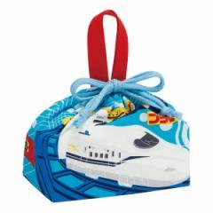 お弁当袋 巾着袋 ランチ巾着 プラレール 子供 キャラクター ( 新幹線 のりもの 巾着 ランチバッグ キッズ 幼稚園 保育園 電車 お弁当箱