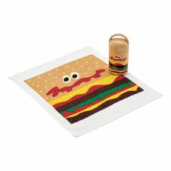 おしぼりセット おしぼり ケース付 バーガーコンクス ハンバーガー 子供 ( お手拭き タオル ハンカチ 手拭き おてふき おしぼりタオル