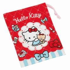 コップ袋 巾着袋 ハローキティ オシャレガール 歯ブラシホルダー付き ( キティ HELLO KITTY 巾着 キッズ 歯ブラシホルダー付き コップ