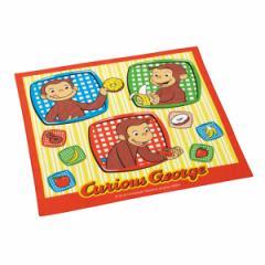ランチクロス ナフキン おさるのジョージ 子供 キャラクター ( ジョージ 三角巾 給食 キッズ ランチョンマット 弁当包み 給食ナフキン