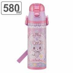 水筒 直飲み ステンレス 超軽量 ミュークルドリーミー おともだち 580ml 子供 ( ワンタッチボトル ステンレスボトル 保冷 直のみ キッズ