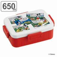 お弁当箱 1段 ミッキーマウス レトロコミック 4点ロック 650ml ( ミッキー 弁当箱 食洗機対応 レンジ対応 ランチボックス 一段 弁当 食