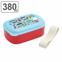 お弁当箱 1段 抗菌 380ml パッキン一体型 ふわっと トミカ ( TOMICA 弁当箱 食洗機対応 レンジ対応 子供 ランチボックス 一段 お弁当 弁