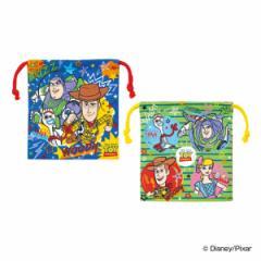 コップ袋 巾着袋 マチ付き 2個入り トイ・ストーリー カラフルポップ 子供 ( トイストーリー 巾着 キッズ コップ 入れ 歯ブラシ 子供用