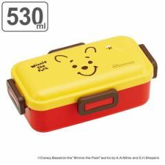 お弁当箱 1段 抗菌 530ml ふわっと くまのプーさん フェイス ( POOH プーさん 弁当箱 ランチボックス 弁当 食洗機対応 レンジ対応 AG 抗