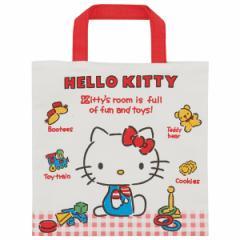 お弁当袋 スクエアランチバッグ ハローキティ ギンガムチェック 子供用 キャラクター ( ランチバッグ 手提げ 給食袋 バッグ 給食セ
