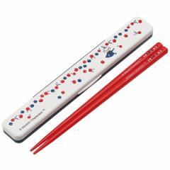 箸&箸箱セット ムーミン ミイ 音の鳴らないクッション付 18cm キャラクター ( 食洗機対応 はし 箸ケース 箸&ケース ハシ お箸 お弁当