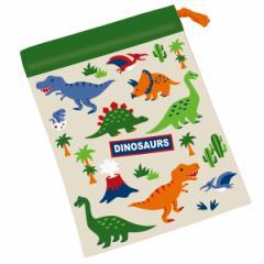 コップ袋 ディノサウルス 歯ブラシホルダー付き 子供用 ( 子ども用 幼稚園 保育園 給食袋 巾着 恐竜グッズ コップ入れ 子供用コップ お