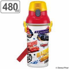水筒 カーズ 直飲み プラスチック 480ml 子供 キャラクター ( 食洗機対応 幼稚園 保育園 軽量 プラスチック製 ワンプッシュボトル 子供