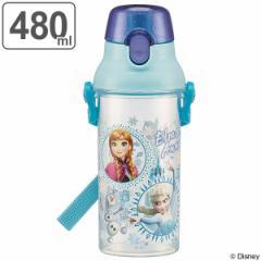 水筒 アナと雪の女王 直飲み プラスチック 480ml 子供 キャラクター ( 食洗機対応 幼稚園 保育園 軽量 プラスチック製 ワンプッシュボト