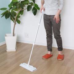 フローリングワイパー 収納に便利なワイパー 本体 全長108cm ( 床掃除 ワイパー 伸縮式 ユースフルシリーズ ゆか掃除 床そうじ ほこり