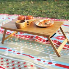 アウトドア 折りたたみ テーブル 幅68×奥行50×高さ22cm バンブーローテーブル バカンス Lサイズ ( センターテーブル 60cm 折り畳み 木