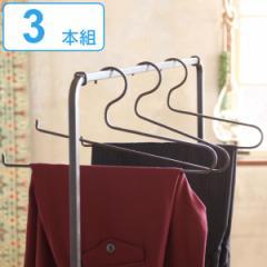 ハンガー 3本組 ジョセフアイアン ストールハンガー ストール ズボン ( 衣類ハンガー セット 衣類収納 衣類 収納 ディスプレイ インテリ