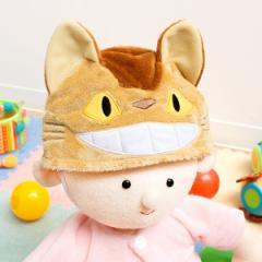 ベビー 帽子 布 となりのトトロ ネコバス キャラクター ( ベビー帽子 ベビー用帽子 ぼうし ベビーグッズ 音が鳴る ねこばす ジブリ かわ