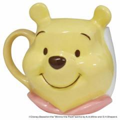 マグカップ くまのプーさん フェイスマグ 350ml 磁器 食器 キャラクター ( 食洗機対応 カップ 電子レンジ対応 マグ コップ プーさん ぷ