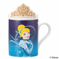 マグカップ フタ付きマグカップ シンデレラ ディズニープリンセス 磁器製 食器 ( キャラクター コップ マグコップ 蓋付き カップ