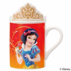 マグカップ フタ付きマグカップ 白雪姫 ディズニープリンセス 磁器製 食器 ( キャラクター コップ マグコップ 蓋付き カップ ふた