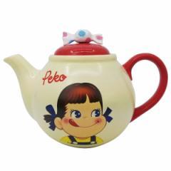 ティーポット 500ml ペコちゃん ポット 食器 磁器製 キャラクター ( 紅茶ポット 立体 不二家 ミルキー ぺこちゃん 紅茶 ティーウェア お